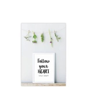 Kaart Follow your heart